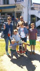Familien Lien Kjølseth på besøk