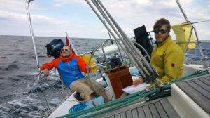 Kapteinen får hjelp av Leif