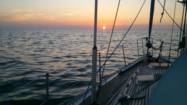 Solnedgang på veil til Helgoland