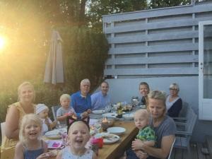 Grillfest med hele gjengen