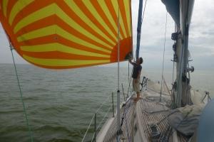 Fornøyd med seilføringen