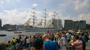 Tall ships arriving Amsterdam during SAIL