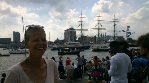 Me and Christian Radich. Tall ship from Oslo. Norway.