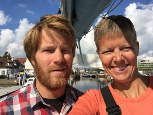Selfie in Lymington. On our way to France.