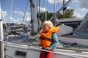 Enjoying the sail.