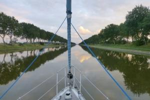 Channel veiw from Middelburg to Vlissingen. Netherland.