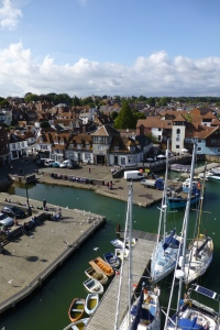 Lymington seen from the mast. A city well worth visiting.