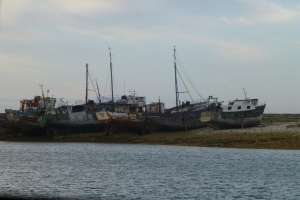 Well known old fishing boats in Camaret-sur-mer.